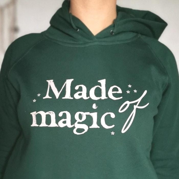 "Hoodie ""Made of Magic"" Grön - Yogia"