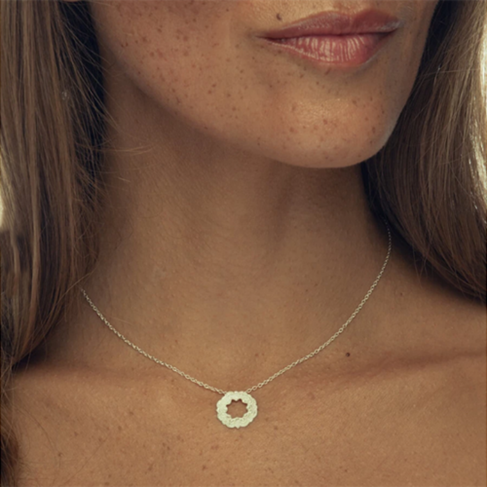 """Halsband """"Your life is now"""" silver från Ananda Soul"""