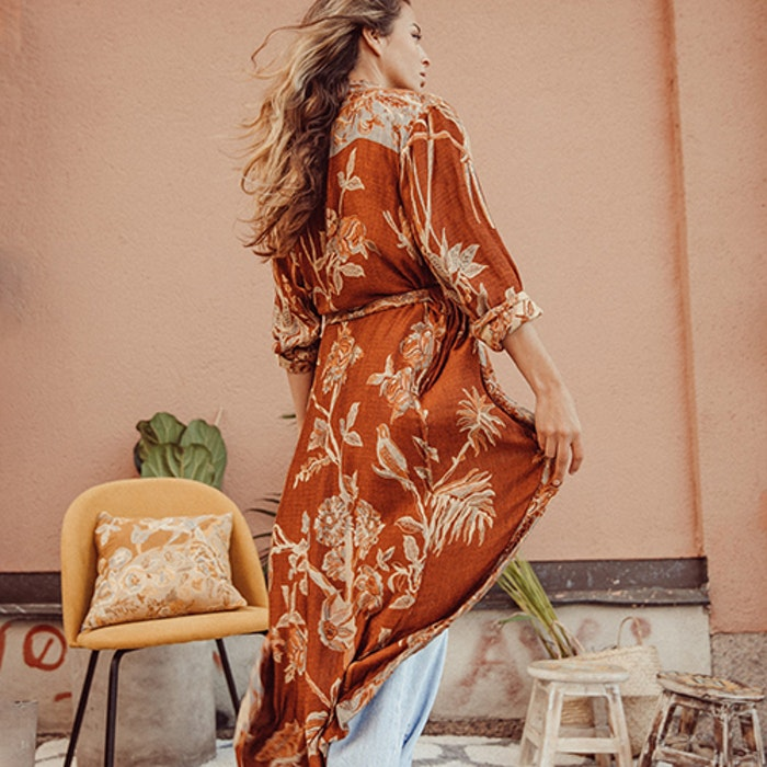 """Exklusiv kimono """"Tierra Di Siena"""" - Brahmaki"""