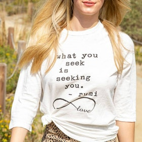 "Tröja ""What you seek is seeking you"" - SuperLove Tees"