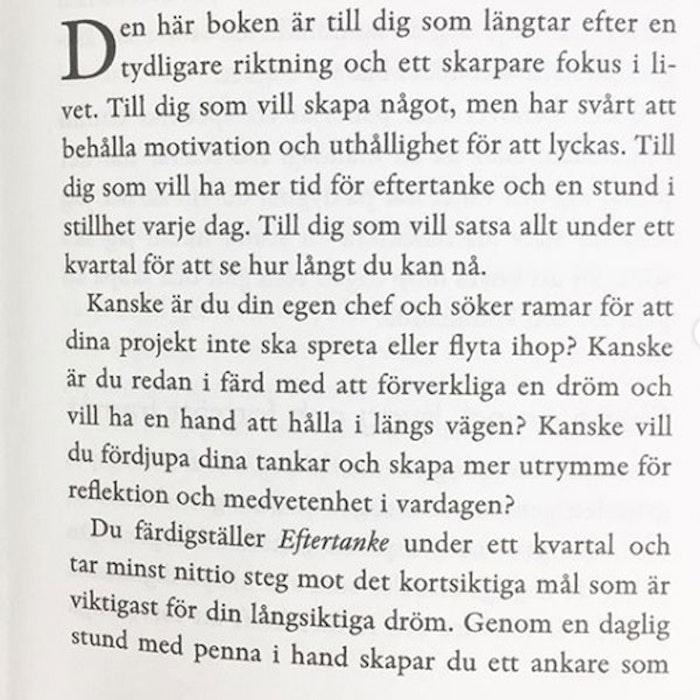 """Bok """"Eftertanke - 90 dagar med struktur & riktning"""" - Sofia Sivertsdotter"""