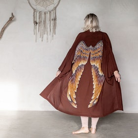 "Everyday kimono ""Burnt chocolate"" - Warriors of the divine"