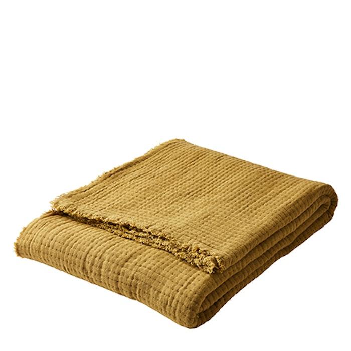 Yogafilt i mjuk bomull senap - Affari
