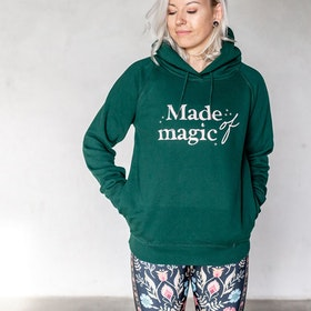"Hoodie ""Made of Magic"" Grön - Yogia"