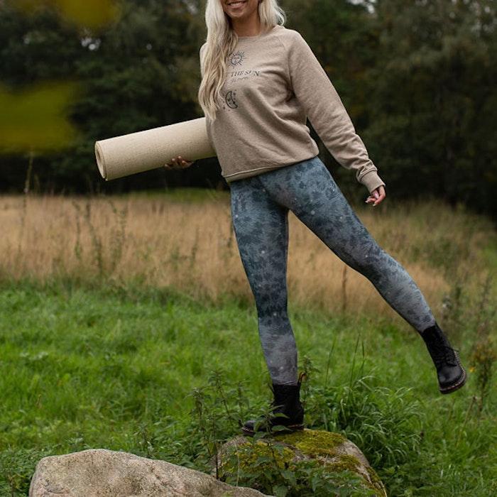 Yogaleggings Grey Leopard - Yogia