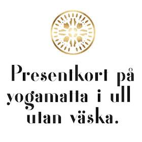 Presentkort yogamatta i äkta 100% merinoull utan väska