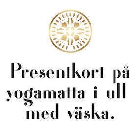 Presentkort yogamatta i Ull - Äkta 100% merinoull med väska