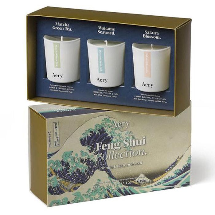 "3 pack doftljus aromterapi ""Feng Shui collection"" - Aery Living"