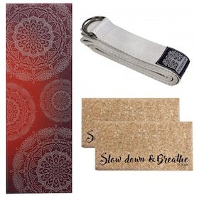 Yoga-Kit Rusty red & Silver