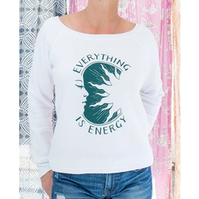 "Långärmad Tröja Everything is Energy"" - SuperLove Tees"