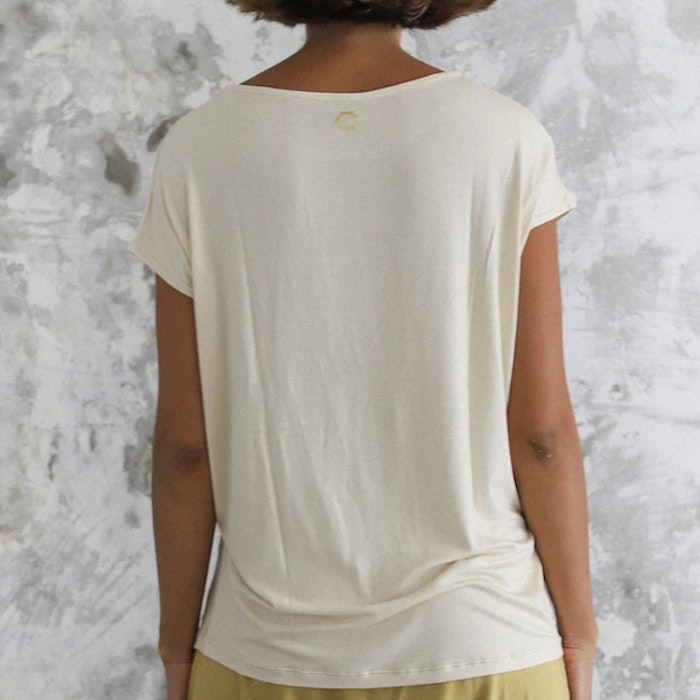 Yogatröja Layer Tee Winter White - Indigo Luna