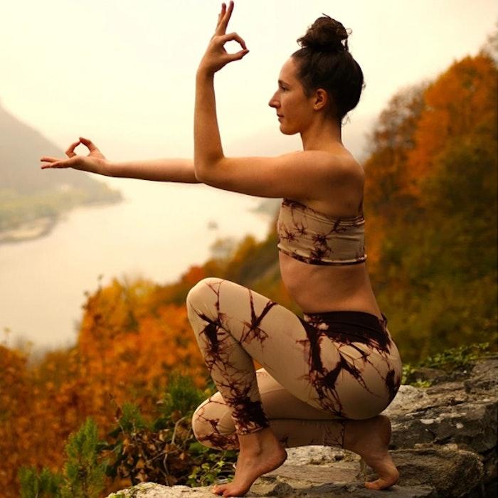 Illusion Seamless Yogaleggings Marsala - Moonchild Yogawear
