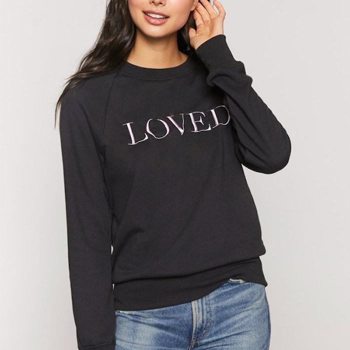 """Tröja """"Loved"""" Old School Sweatshirt Vintage black - Spiritual Gangster"""