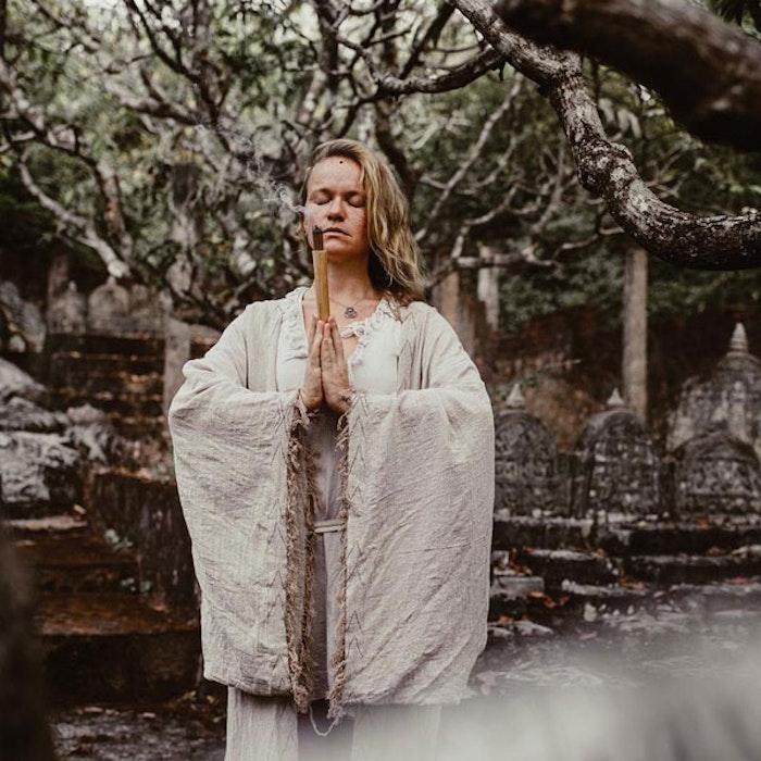 Kimono Khadi Wide sleeves Natural - Chintamani Alchemi