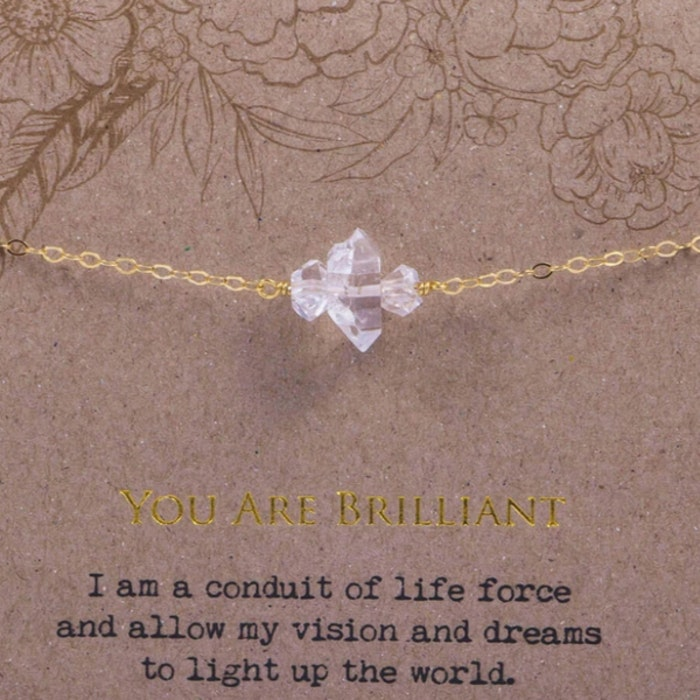 "Armband ""You are brilliant"" Gold från Ananda Soul"