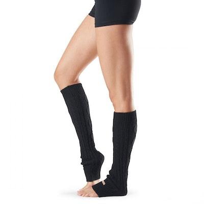 Benvärmare Knee High Black - ToeSox