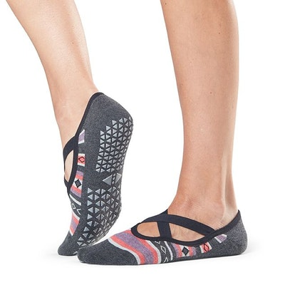 Yogastrumpor ''Polar'' Chloe Grip Socks - Tavi Noir