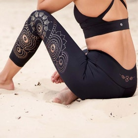 Yogaleggings Moonchild Recycled High Waist 7/8 - Dharma Bums