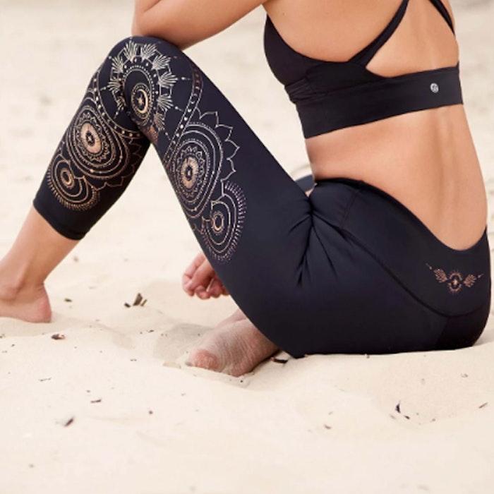 Yogaleggings Moonchild Recycled High Waist 7/8 - Dharma Bums