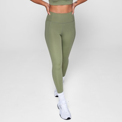 Yogaleggings High Rise Long Olive - Girlfriend Collective