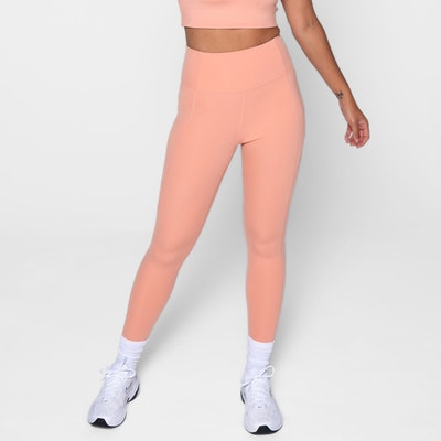 Yogaleggings High Rise Long Sherbert - Girlfriend Collective