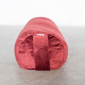 Yogabolster sammet vinröd- Heppa Design