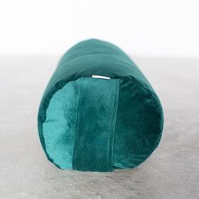 Yogabolster sammet mörkgrön - Heppa Design