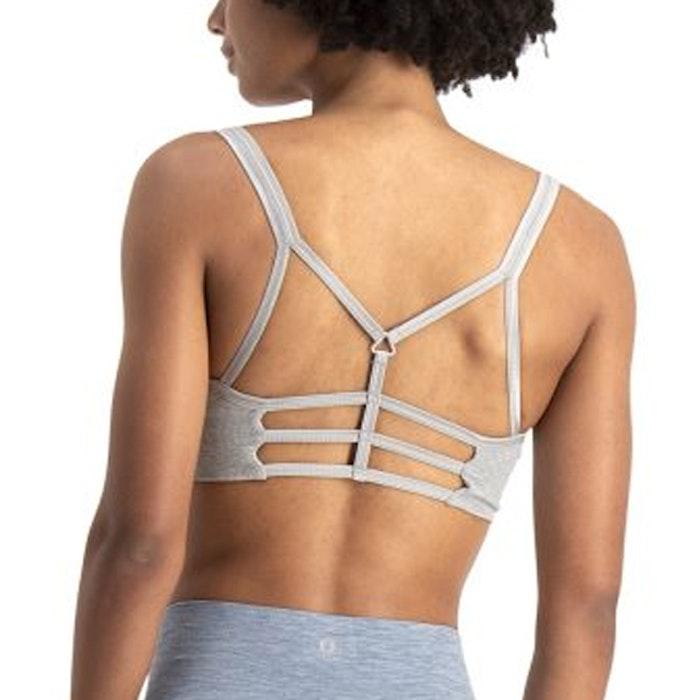 Sport-BH Yoga Leyla Light Grey Melange - Run & Relax