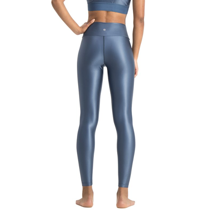 Yogaleggings Shine Petrol Blue - Run & Relax