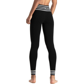 Yogaleggings Bamboo Stripe Black - Run & Relax