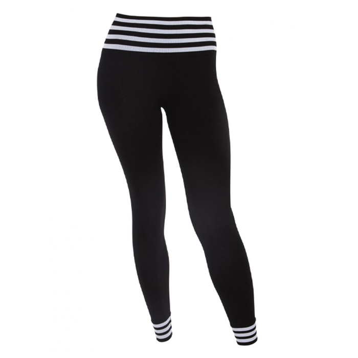 Yogaleggings Bamboo Stripe Black - Run & Relax