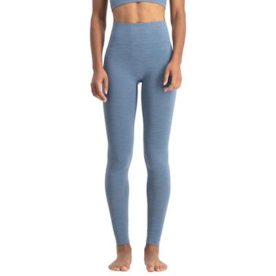 Yogaleggings Bandha Petrol Blue & White - Run & Relax