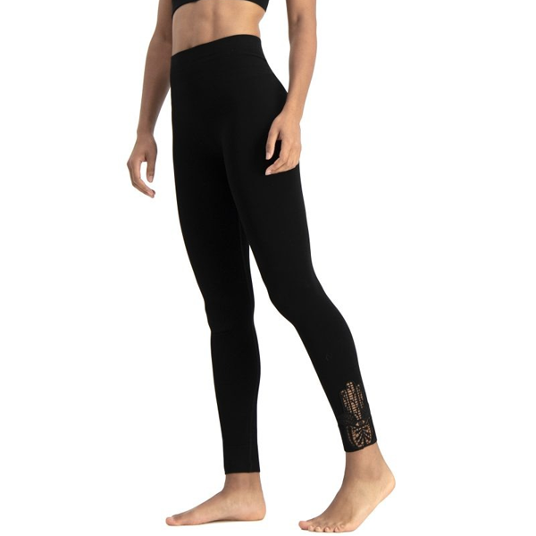 Yogaleggings Hamsa Bamboo Black - Run & Relax