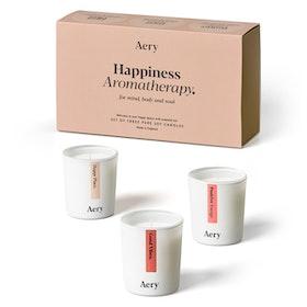"3 pack doftljus aromaterapi ""Happiness Aromatherapy"" - Aery Living"