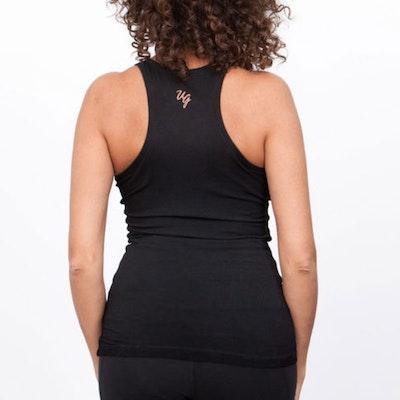 Yogatopp/linne OM Urban black - Urban Goddess