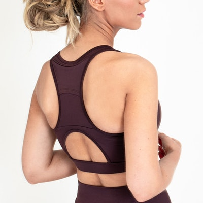 Sport-BH Yoga Norah Brown Raisin - DOM