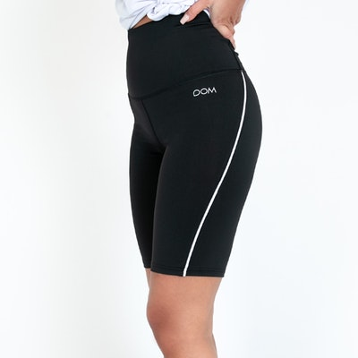 Yogashorts Eden Short Piped Black - DOM