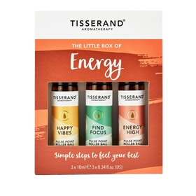 "Yogaoljor Roller ""The Little Box of Energy"" 3-pack oljor - Tisserand Aromatherapy"