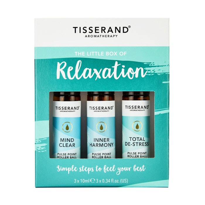 "Yogaoljor Roller ""The Little Box of Relaxation"" 3-pack oljor - Tisserand Aromatherapy"