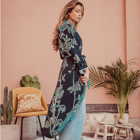 "Exklusiv kimono ""Baby It's Blue"" - Brahmaki"