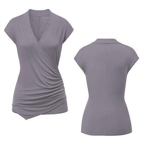 Yogatröja Wickeltop Pearl Grey - Curare Yogawear