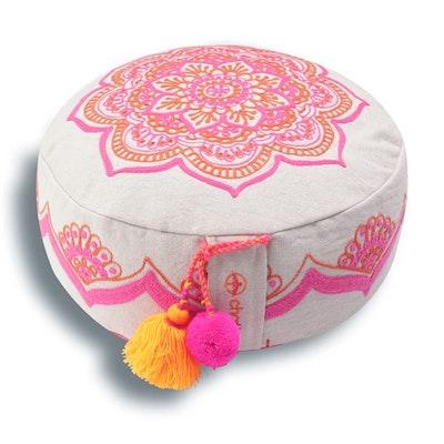 """Meditationskudde Chattra Zafu """"Rangoli"""" - Chattra"""