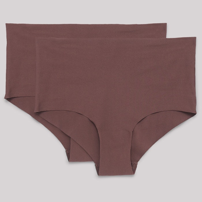 Trosor 2-pack Invisible Cheeky High-Rise Deep Taupe - Organic Basics