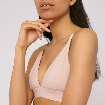 BH Organic Cotton Triangle Bra Rose Nude - Organic Basics