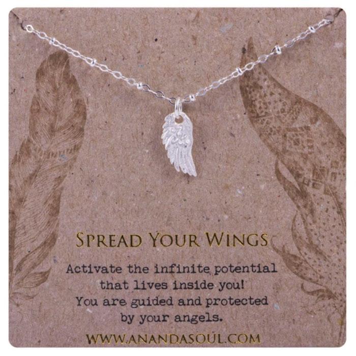 "Halsband ""spread Your Wings"" silver från Ananda Soul"