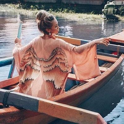 "Everyday kimono ""Musk caramel wings"" - Warriors of the divine"