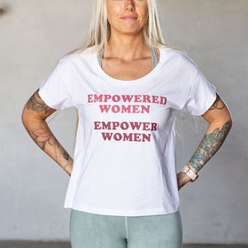 "T-shirt ""Empowered Women Empower Women"" White - Yogia"