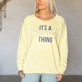"Sweatshirt ""It´s a Spiritual Thing"" Yellow Mist - Soul Factory"