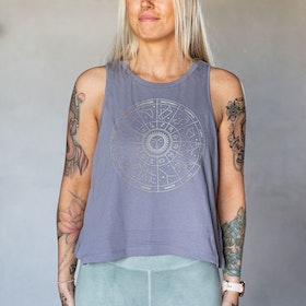 Linne Tank Top Star Sign Lava Grey - Soul Factory