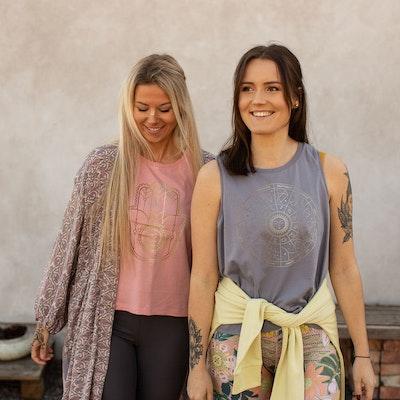 Linne Tank Top Star Sign Lava Grey - Yogia